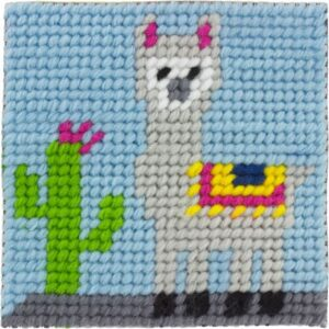 Kit canevas enfant 20×20 Joshua le lama