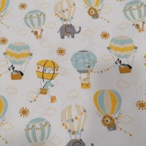 Tissu coton les montgolfières