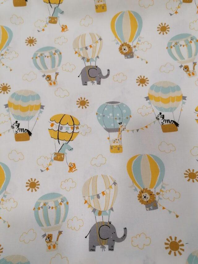 Tissu coton POPPY Les Montgolfières