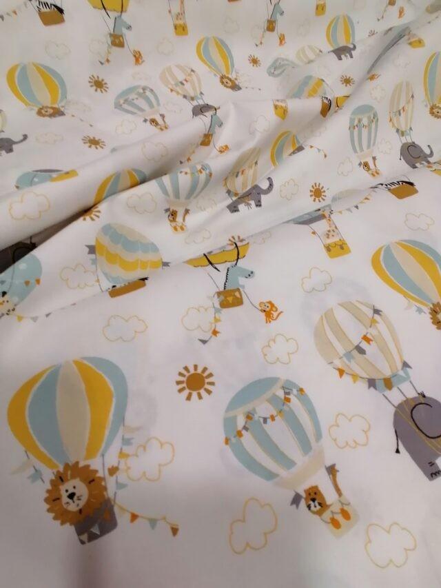 Tissu coton POPPY Les Montgolfières 2
