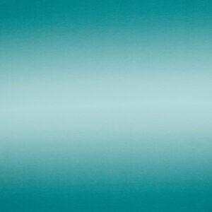 Tissu jersey effet tie & dye col turquoise (10cm)