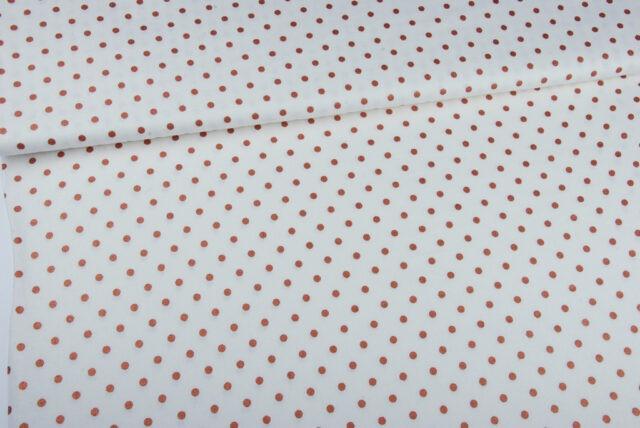 Tissu lin et viscose pois cuivrés à La Boutik Créative de Rives 135cm