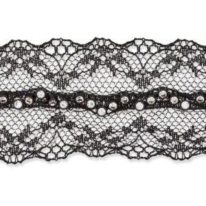 Dentelle lingerie avec strass 35mm noir
