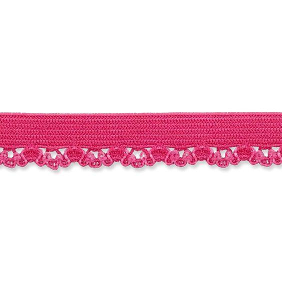 Elastique lingerie 10mm rose à la Boutik Creative de Rives
