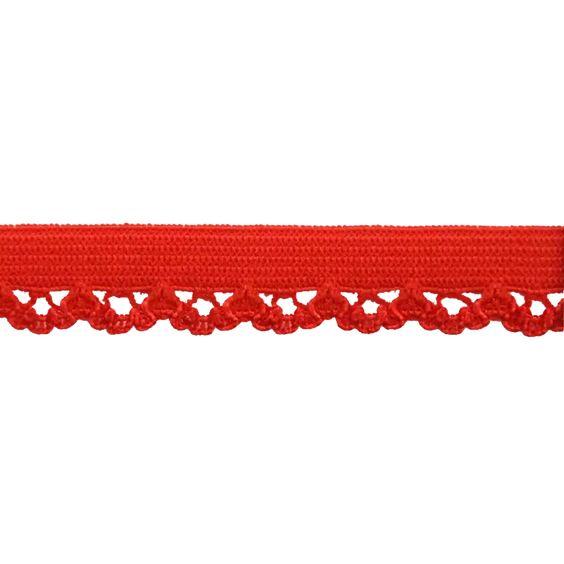 Elastique lingerie 10mm rouge à la Boutik Creative de Rives