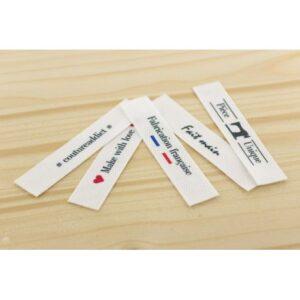 Etiquettes imprimées à coudre x 5 logos