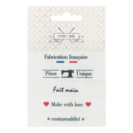 Etiquettes imprimées à coudre x 5 logos à La Boutik Creative de Rives