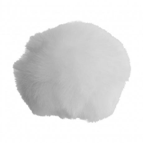 Pompon blanc 8cm