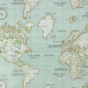 Tissu enduit maps by Fryett's (x10cm)