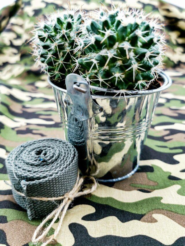 Tissu coton camouflage - décors