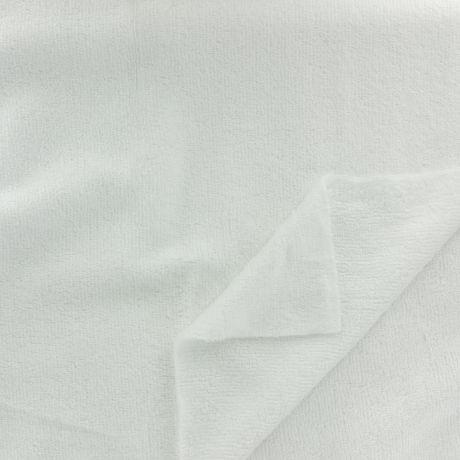 Tissu éponge de bambou blanc Oekotex à La Boutik Créative de Rives