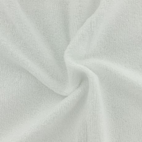 Tissu éponge de bambou blanc