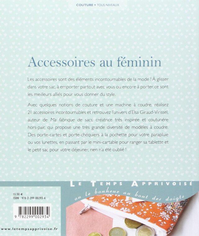Accessoires au féminin dos de couv à la Boutik Créative de Rives