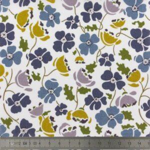 Tissu Liberty Tana Lawn Edie bleu  (x 10 cm)