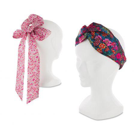 Kit foulchie et headband en Liberty Phoebe et Ciara-fête des mamans- à la Boutik Creative de Rives