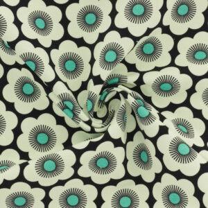 Tissu Sweat French Terry Nippon flowers (x10cm)