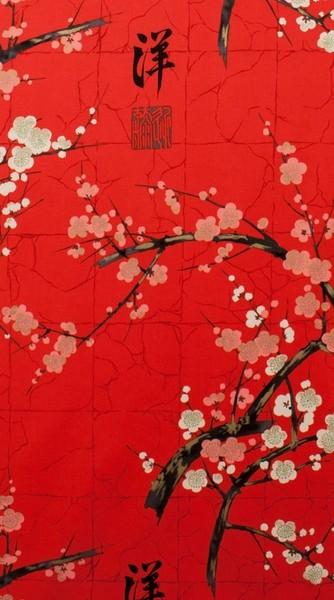 Tissu Indichine rouge Alexander Henry Fabric à La Boutik Créative de Rives
