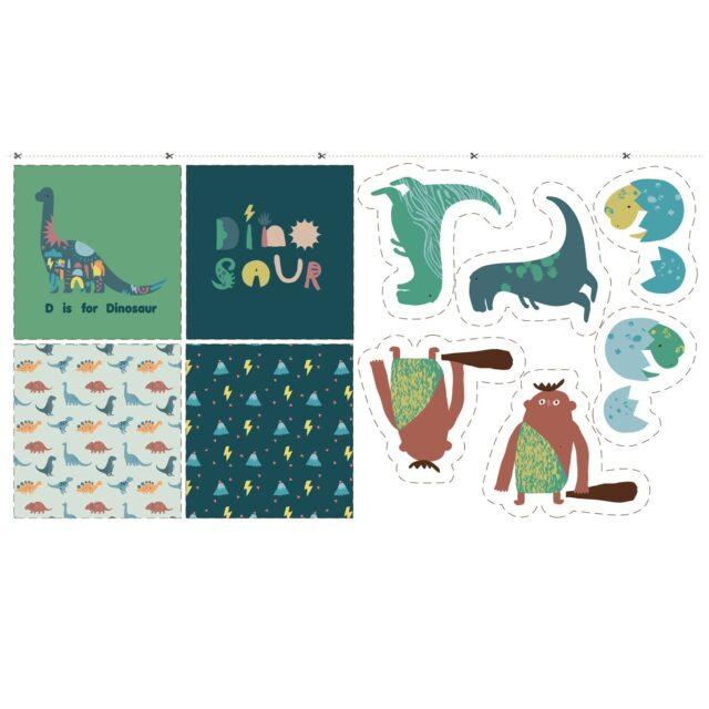 Panneau de tissu dinosaures -La Boutik Creative de Rives 1 (3)