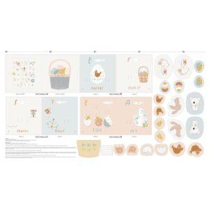Panneau textile Easter Book - La Boutik Creative de Rives