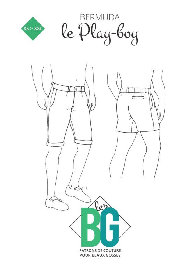 Patron les BG Bermuda Playboy-couv-La Boutik Creative de Rives