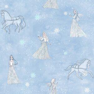 Popeline de coton-snow-queen-La Boutik Creative de Rives