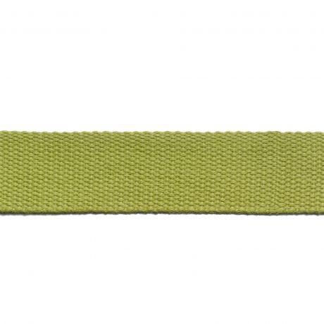 Sangle pour sac 30 mm vert anis détail à La Boutik Creative de Rives