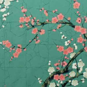 Tissu Indichine Vert amande Alexander Henry Fabric à La Boutik' Créative de Rives
