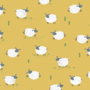 Tissu coton Farm days les moutons (x10cm)