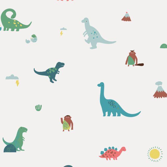 Tissu coton Les Dinos - La Boutik Créative de Rives