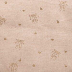 Tissu coton bion BALLERINAS PINK (x10cm)