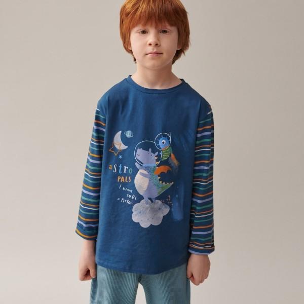 Tissu jersey Dragon Astronaute - p1 La Boutik Creative de Rives