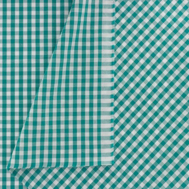 Tissu-vichy-popeline-coton-6X6mm-emeraude-D2-a-La-Boutik-Creative-de-Rives