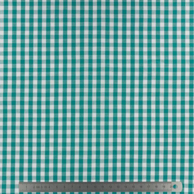 Tissu-vichy-popeline-coton-6X6mm-emeraude-a-La-Boutik-Creative-de-Rives