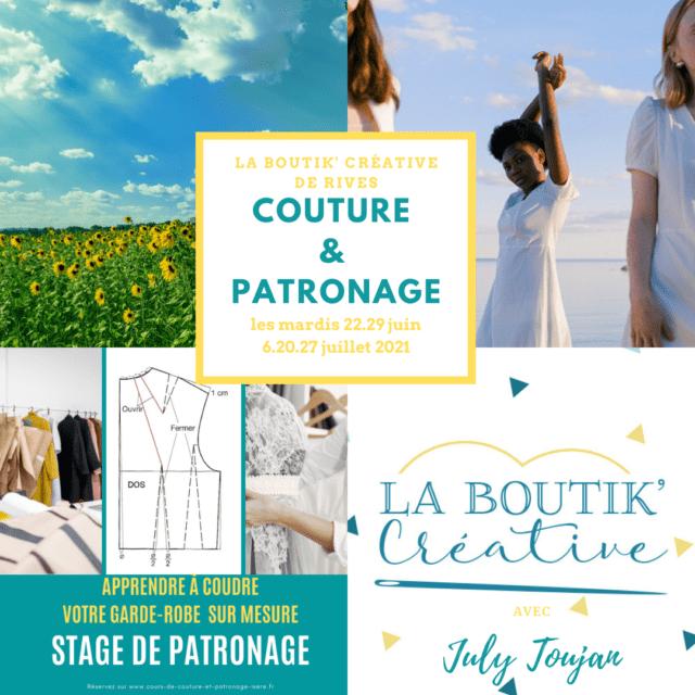 couture & patronage la boutik creative