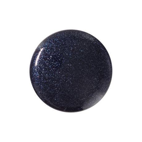 Bouton Pastille à queue col Noir Irisé 15mm - à La Boutik Creative de Rives