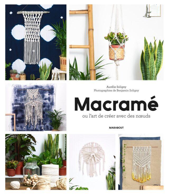 Macramé livre Macramé ed Marabout - couv- à la Boutik Creative de Rives