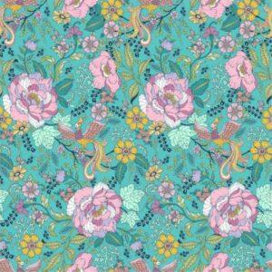 Popeline de coton très douce Dashwood Ace Lawn Turquoize (x10cm)