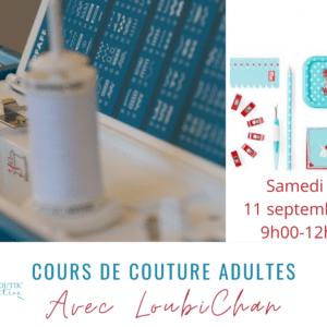 Cours de couture adultes 11 septembre