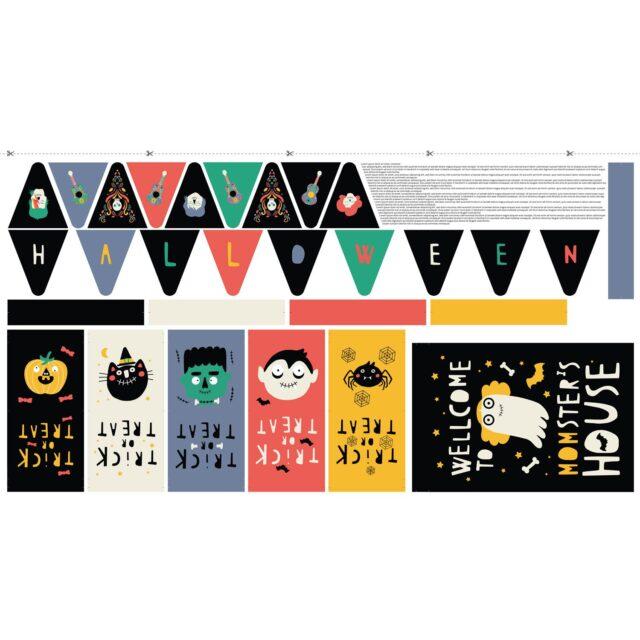 HALLOWEEN KIT Panneau tissu imprimé -katia-La Boutik Créative de Rives