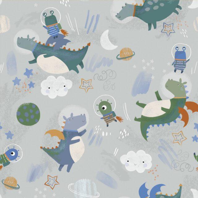 Tissu coton-astro-pals-à La Boutik Creative de Rives