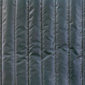 Tissu matelassé bleu métallisé