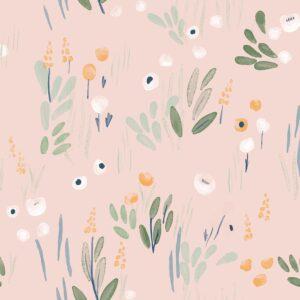 Tissu Soft shell Detective Flowers