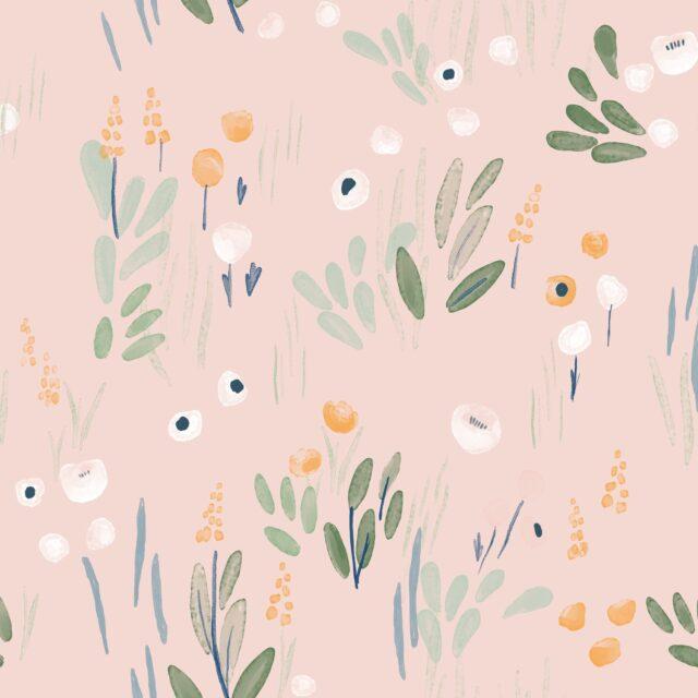 Tissu Soft shell Detective Flowers-2118-5-katia à La Boutik Creative de Rives