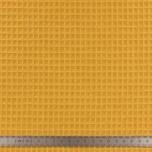 Tissu-nid-dabeille-bio-ocre-a-la-Boutik-Creative-de-Rives