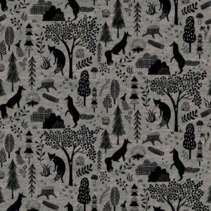 Tissu sweat Melange Forest