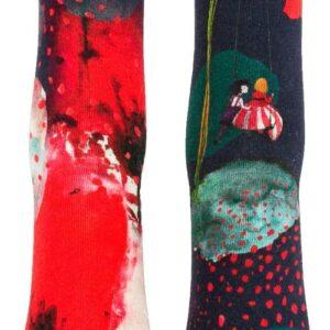 chaussettes-fantaisie-coquelicots-liligambettes-à La Boutik Créative de Rives